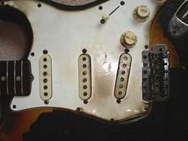 Hendrix Fire Fender Strat Guitar