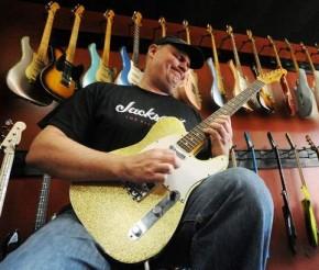 guitar store guitar playing