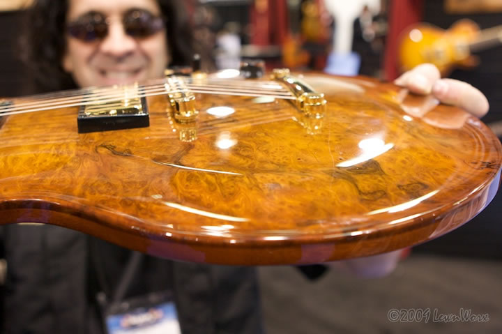 "Lace Helix ""L"" Bass Guitar at Winter NAMM"