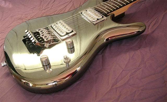 ibanez js2prm chromeboy guitar top shot