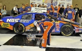 Kyle Busch Smashes Guitar Trophy