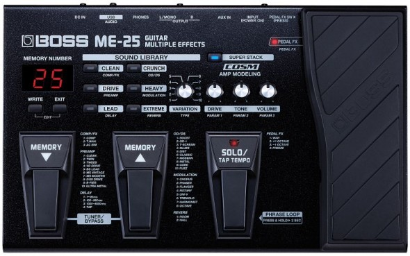 Evolution of Boss ME-Series Guitar Multi-Effects