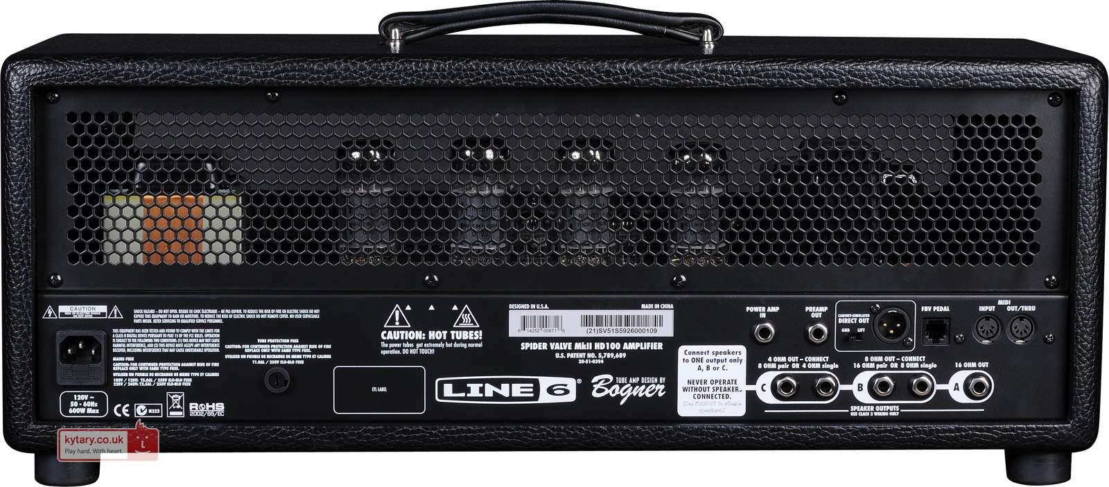 Line 6 HD100 MKII back