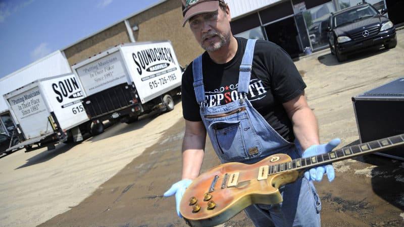 nashville flood destroys guitars and instruments