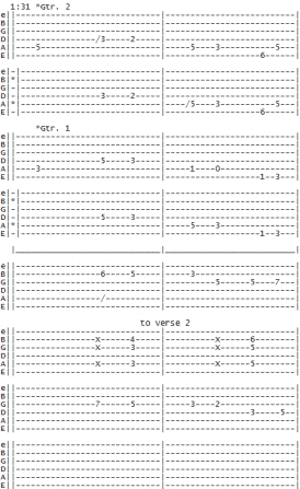 whitesnake-fool-for-your-loving-intro-guitar-interlude guitar tab