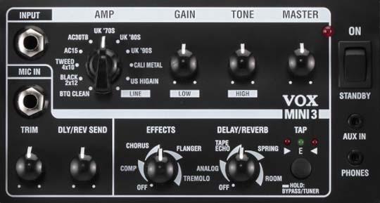 VOX MINI3 Front Panel