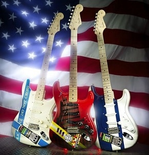 Fender and Gibson 9/11 Tribute Guitars