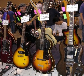 Assorted Gibsons from 1950s to present