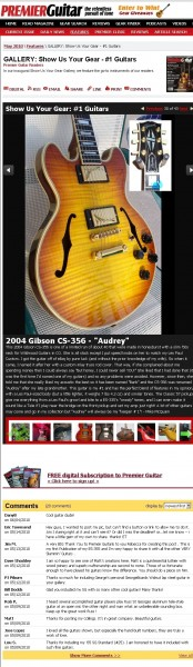 """Audrey"" featured on Premier Guitar Magazine's website"